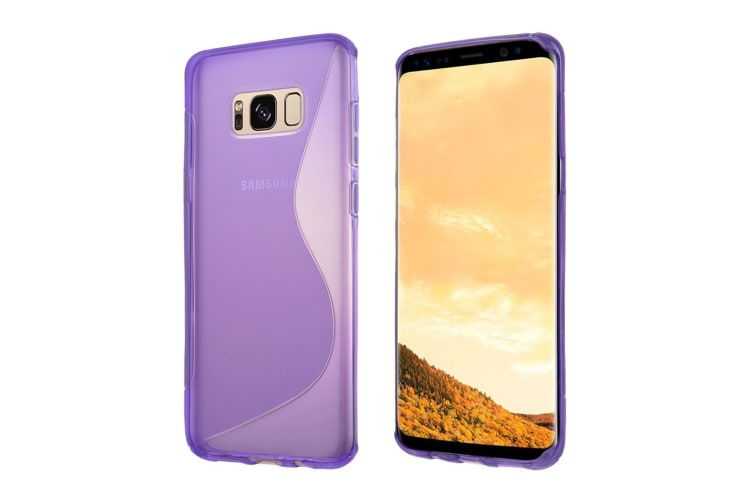 For Samsung Galaxy S8 PLUS Case Fashionable S-Line Grippy Shielding Cover Purple