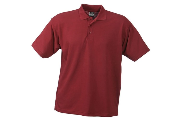 James and Nicholson Unisex Worker Polo Shirt (Wine) (M)