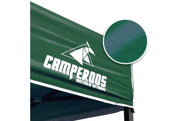 3x3m Gazebo Frame + Roof + Side Cover - GREEN
