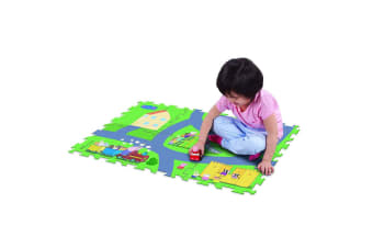 "Peppa Pig 28"" x 19"" Megamat Playmat/Playset w/ 1 Assorted Vehicle Kids 3y+ Toy"