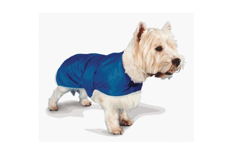 Pennine Waterproof Fur Lined Blue Dog Coat (Blue) (71cm)