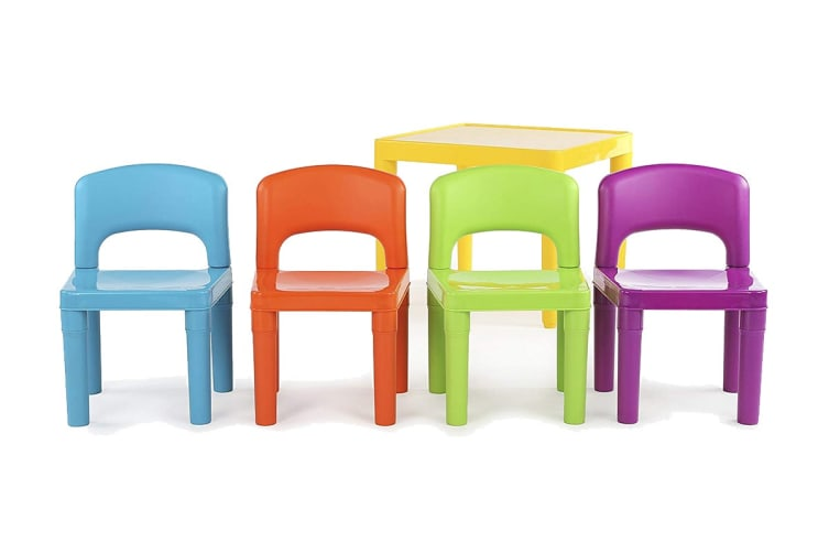 Lenoxx Kids 5 Piece Plastic Table & Chairs