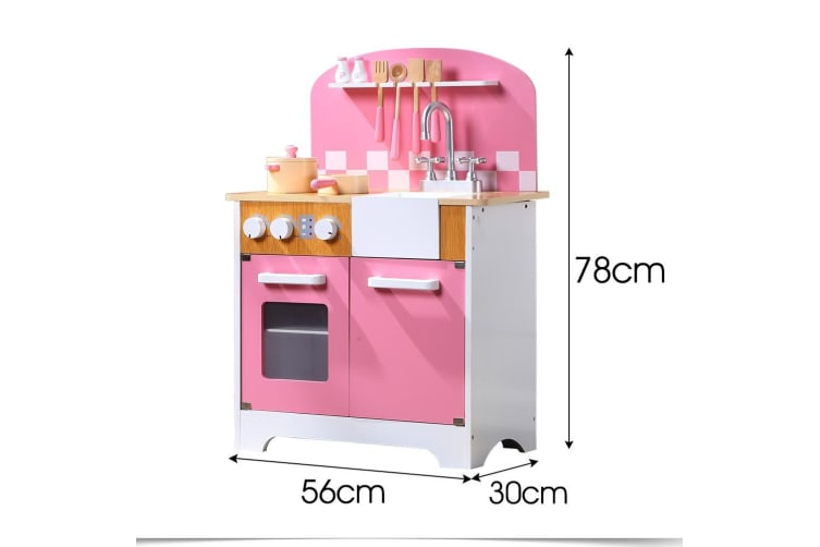 Kids Wooden Kitchen Pretend Play Set Cooking Toys Toddlers Home Cookware 4 Types