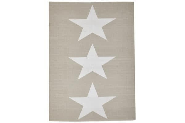 Coastal Indoor Out door Rug Star Taupe White 270x180cm