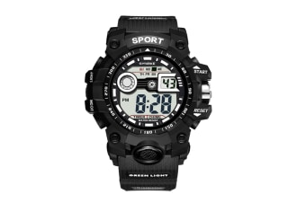 Outdoor Multifunctional Student Watch Men'S Sports Electronic Watch Black
