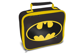Batman Logo Lunch Bag (Black/Yellow) (One Size)