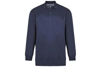 Kam Jeanswear Mens Polo Collar Sweater (Navy)