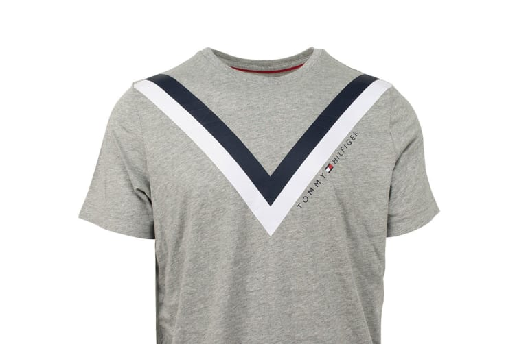 Tommy Hilfiger Men's Modern Essentials T-Shirt (Grey Heather, Size XL)