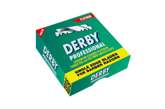 Derby Professional Single Edge Razor Blades - 100