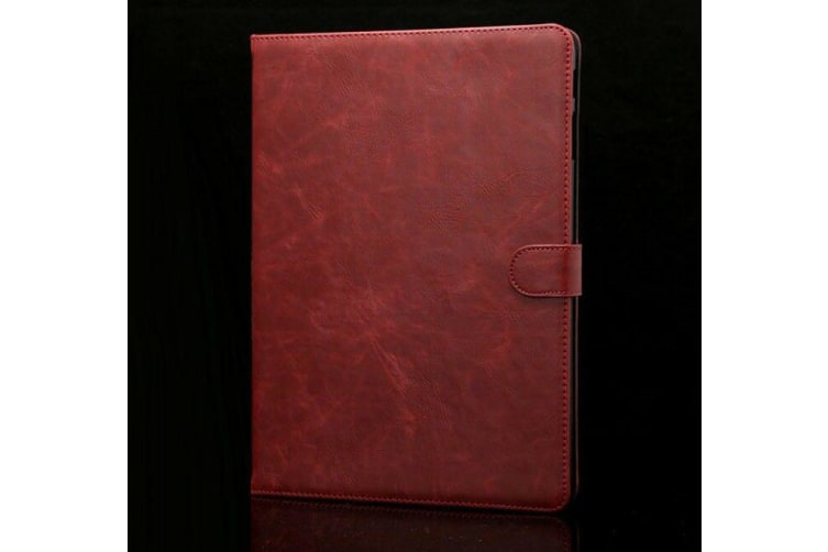 Luxury Leather Smart Case Cover For Galaxy Tab A 10.5 T590 T595-Red