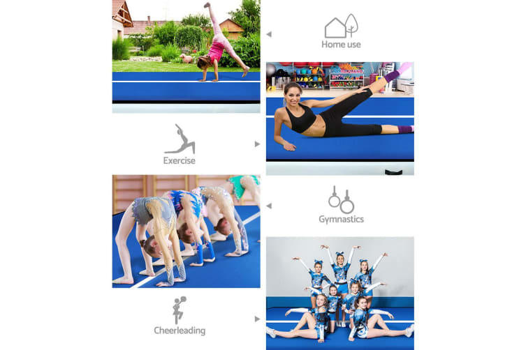 Everfit 8M Air Track Inflatable Airtrack Tumbling Floor Mat Home Gymnastics Gym