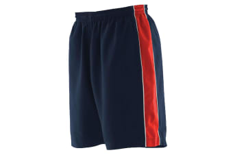 Finden & Hales Mens Contrast Sports Shorts (Navy/ Red/ White) (XL)