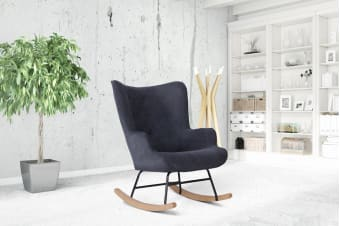 Shangri-La Milla Rocking Armchair (Midnight Blue)