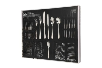 STANLEY ROGERS 56 Piece Stainless Steel CHICAGO 56pc Cutlery Set 50569