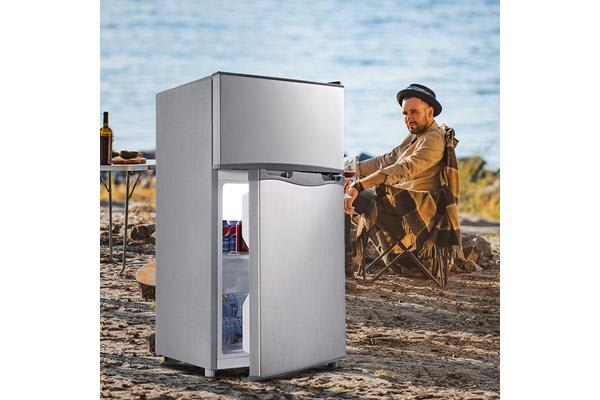 116L Upright Anti-shake Portable Bar Fridge Freezer