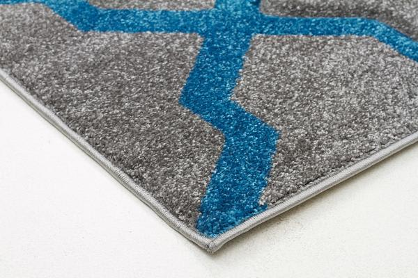 Cross Hatch Modern Rug Grey 290x200cm