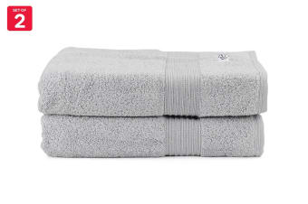 Onkaparinga Ultimate 100% Turkish Cotton Bath Towel Set of 2 (Silver)