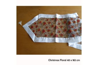 Table Decorative Runner Christmas Floral