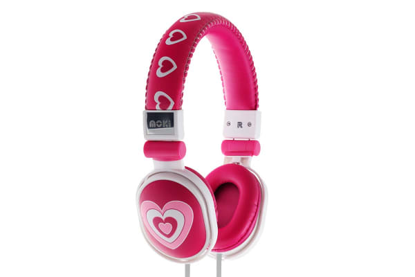 Moki Poppers Over Ear Headphones - Hearts (ACCHPPON)
