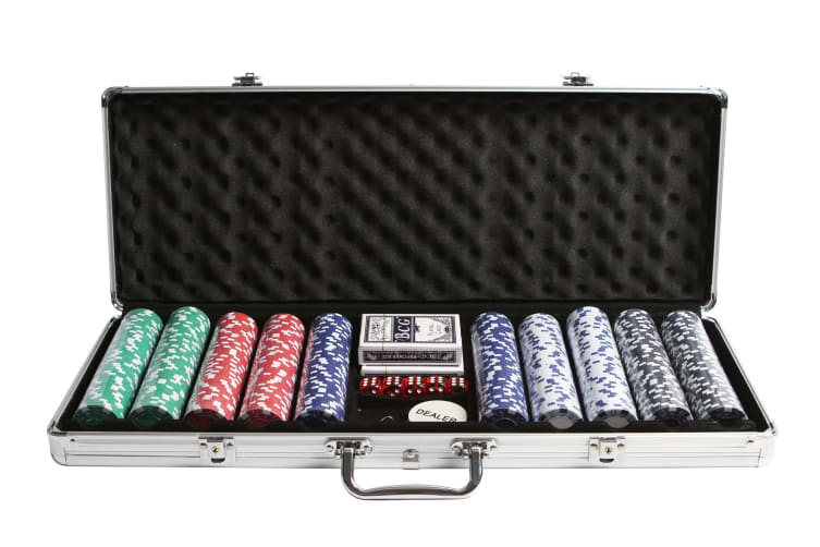 500 Chips Poker Set With Carry Case