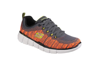 Skechers Childrens/Boys Equalizer 2.0 Perfect Game Memory Foam Lace Up Trainers (Charcoal/Orange) (11.5 Child UK)