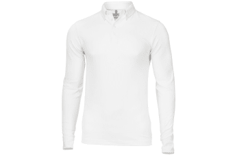 Nimbus Mens Carlington Deluxe Long Sleeve Polo Shirt (White)