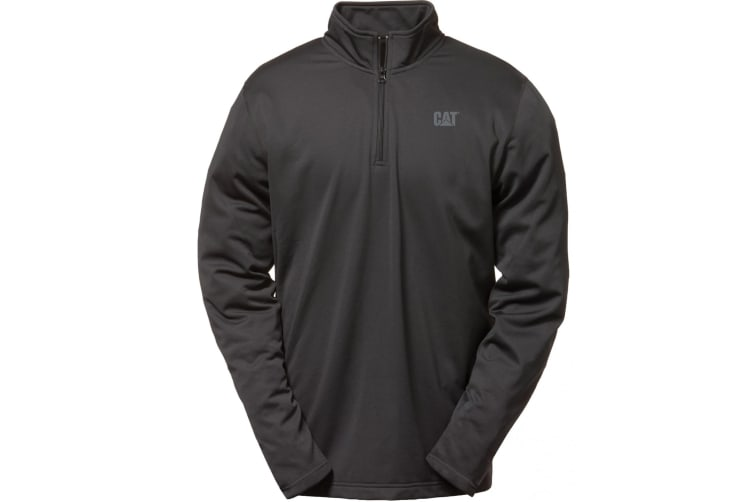 Caterpillar C1499009 FLEX LAYER QUARTER ZIP / Mens Sweatshirts (Black) (XLarge)