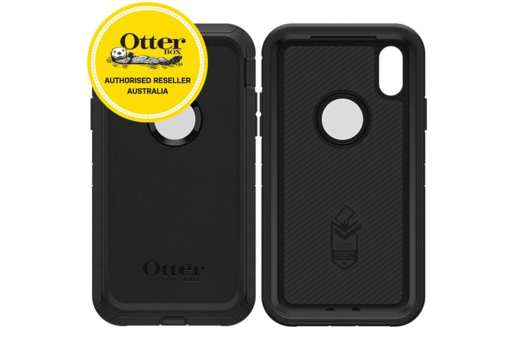 half off dab91 06e1b OtterBox Defender Case for iPhone XR - Black