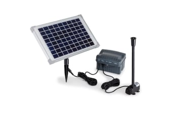 50W Solar Powered Fountain Submersible Water Pump with Battery Pond Kit Garden