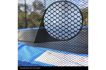 UP-SHOT 14ft Replacement Outdoor Trampoline Round Safety Net Enclosure 12 Pole