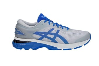 ASICS Men's Gel-Kayano 25 Lite-Show Running Shoe (Mid Grey/Illusion Blue, Size 14)