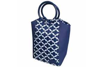 Sachi Insulated Lunch Box Carry Tote Picnic Storage Portable Bag Moroccan Navy