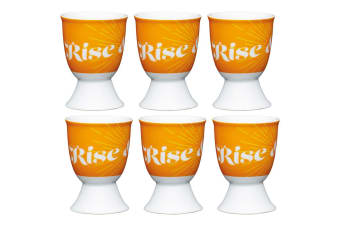 6pc KitchenCraft Retro Rise Boiled Egg Cup Holder Stand Tableware Servingware