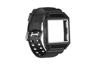 Fitbit Ionic Shockproof TPU Rugged Protective Case with Band BlackWhite