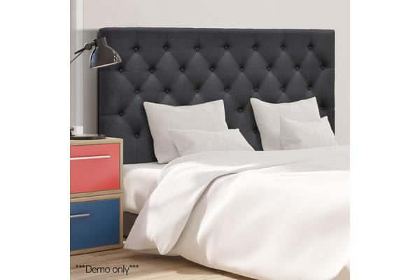 Upholstered Fabric Headboard (Double/Charcoal)