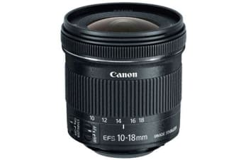 New Canon EF-S 10-18mm f/4.5-5.6 IS STM Lens (FREE DELIVERY + 1 YEAR AU WARRANTY)
