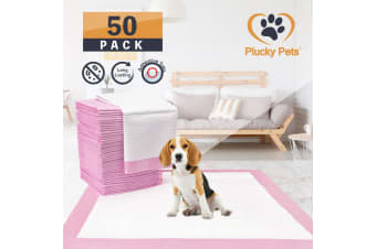 50 Pack Puppy Pet Dog Indoor Cat Toilet Training Pads(PINK)