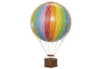 Ornamental Hanging Hot Air Balloon - Mini 8.5cm - Rainbow