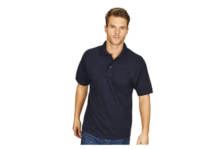 Casual Classic Mens Premium Triple Stitch Polo (Navy) (M)