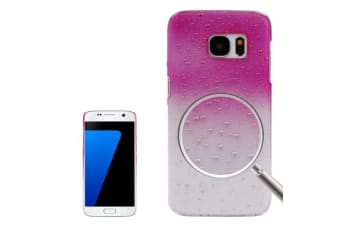 For Samsung Galaxy S7 Case Modern Water Droplets Shielding Cover Magenta