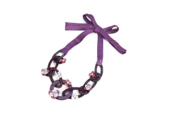 Intrigue Womens/Ladies Acrylic Ribbon Necklace (Purple) (One Size)