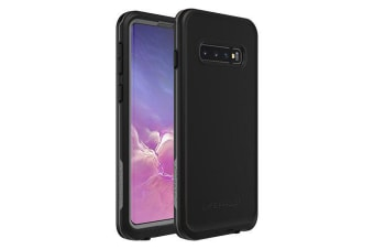 Lifeproof Galaxy S10 FRE Case Waterproof Dirtproof Snowproof Dropproof Cover for Samsung - Black & Grey Asphalt