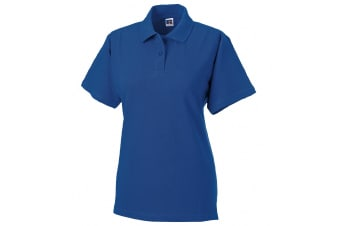 Russell Europe Womens/Ladies Classic Cotton Short Sleeve Polo Shirt (Bright Royal) (L)