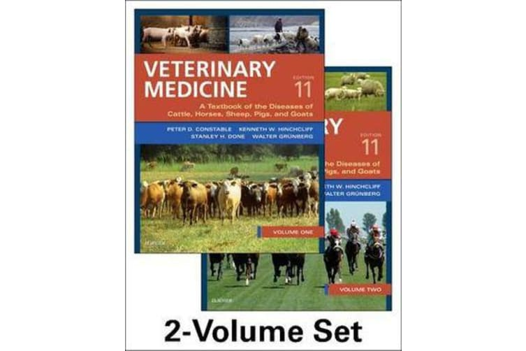 Veterinary Medicine - A textbook of the diseases of cattle, horses, sheep, pigs and goats - two-volume set