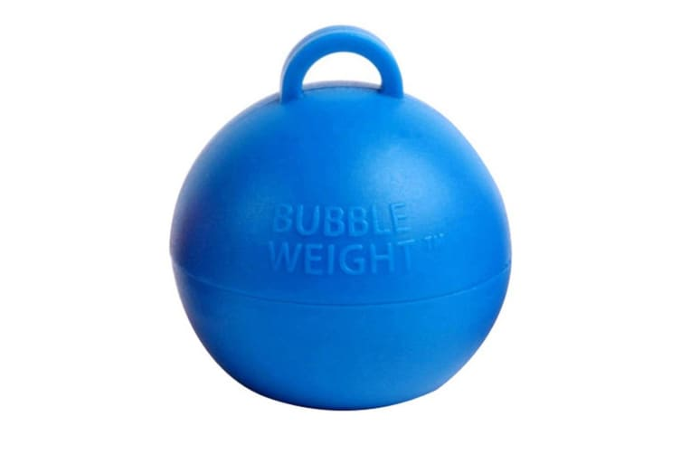Creative Party Plastic Bubble Balloon Weight (Blue) (One Size)