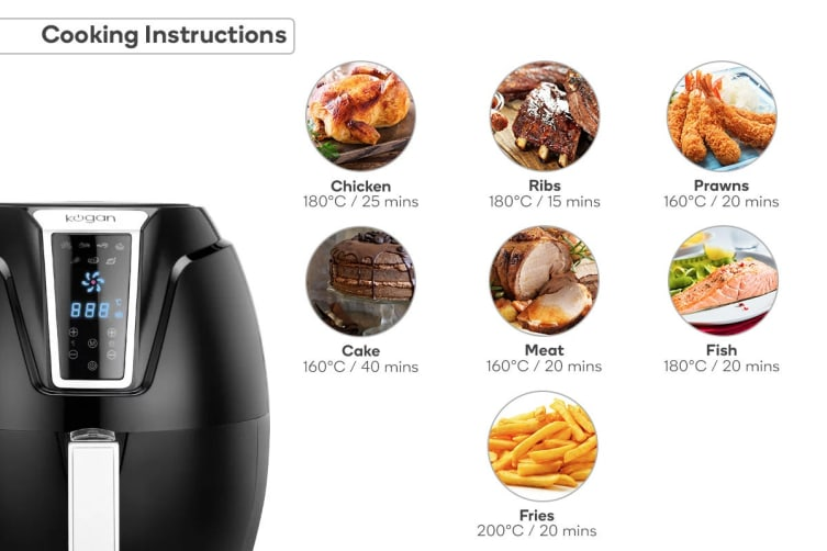 Kogan 3.2L Digital Low Fat 1400W Air Fryer