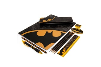 Batman Bumper Stationery Set (Black/Yellow) (One Size)