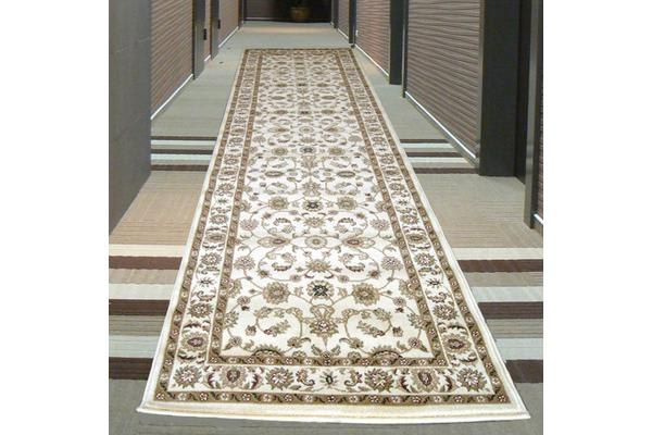 Classic Runner Ivory with Ivory Border 300x80cm