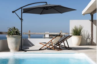 Milano 3 Metre Cantilever Outdoor Umbrella with Bonus Protective Cover (Charcoal)