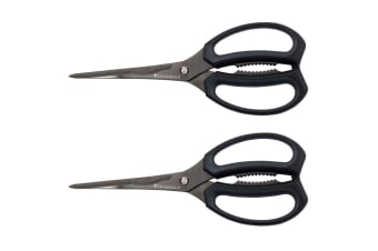 2PK Savannah Titanium Stainless Steel Blades Kitchen Lobster Shears Scissors BLK